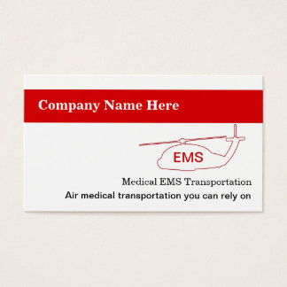 Medical Transportation Business Cards