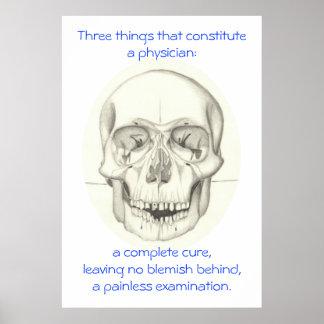Medical Triad with Skull print