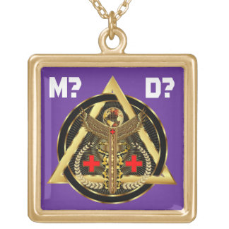 Medical Universal Design Artist Concept VIEW ABOUT Gold Plated Necklace