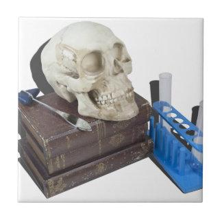 MedicalBooksSkullTestTubes051213.png Ceramic Tiles