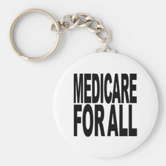 Medicare For All Basic Round Button Key Ring