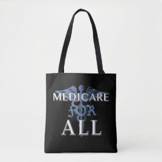 MEDICARE FOR ALL tote blk Tote Bag