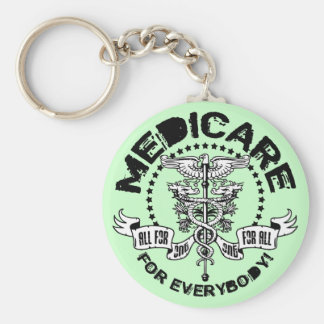 Medicare For Everybody Basic Round Button Key Ring