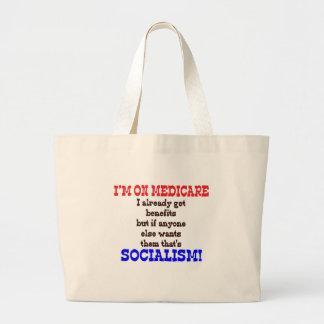 Medicare Hypocrite Large Tote Bag