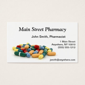 Pharmaceutical office supplies stationery zazzle medication business card reheart Choice Image