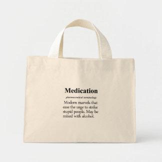 Medication Definition Mini Tote Bag