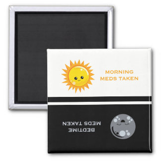 Medication Reminder Daily Day and Night Magnet
