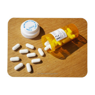 Medication spilled on table vinyl magnet