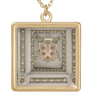Medici coat of arms, from the soffit of the church gold plated necklace