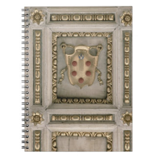 Medici coat of arms, from the soffit of the church notebooks