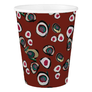 Medici Gardens 4 Colorful Abstract Paper Party Cup