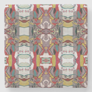 Medici Gardens Reflections Colorful Stone Coaster