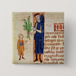 Medicinal Plants 15 Cm Square Badge