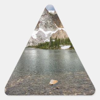 Medicine Bow Lake View Triangle Sticker