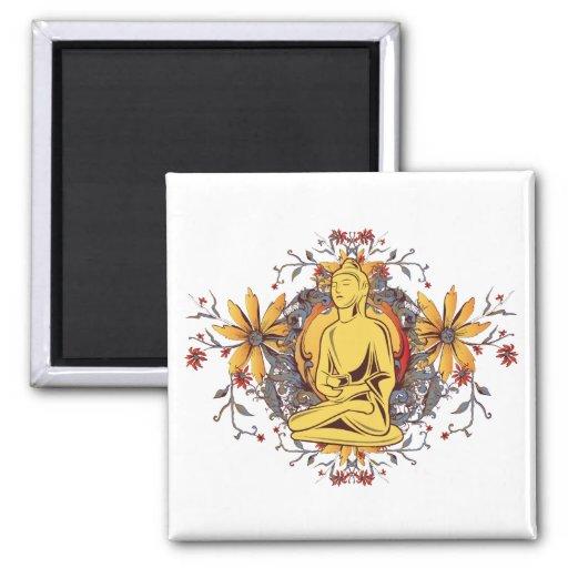 Medicine Buddha in Meditation Fridge Magnet