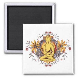 Medicine Buddha in Meditation Square Magnet