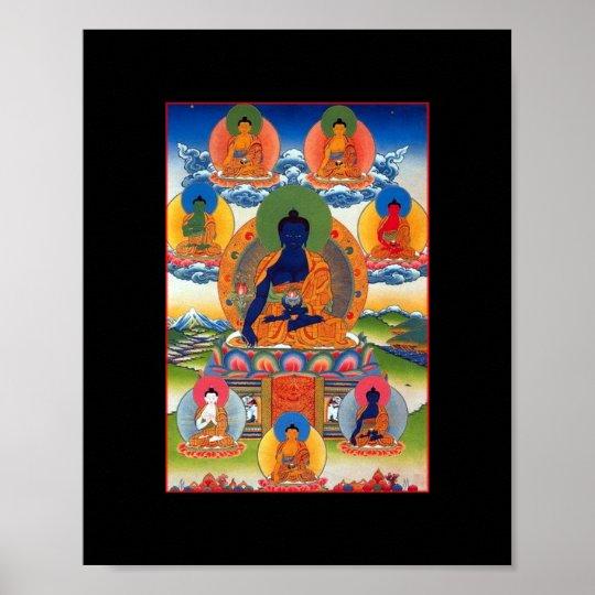 Medicine Buddha Tibetan Buddhist Art Poster