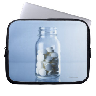 medicine in the bottle laptop sleeve