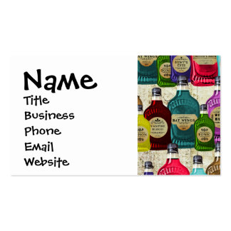 Medicine Man Magic Potion Apothecary Tonic Bottles Double-Sided Standard Business Cards (Pack Of 100)