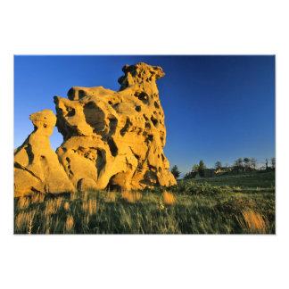Medicine Rocks State Park near Ekalaka Montana Photo Print