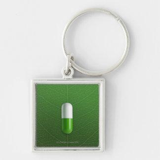 Medicine Silver-Colored Square Key Ring