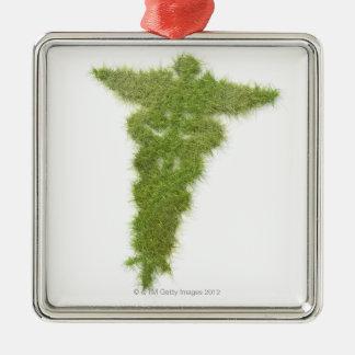 Medicine symbol made of grass christmas ornament