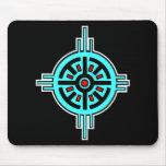 Medicine Wheel-Black Mouse Pad