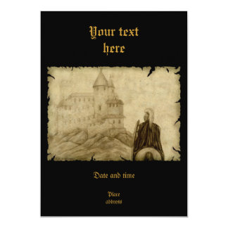 Medieval 13 Cm X 18 Cm Invitation Card