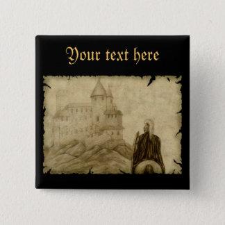 Medieval 15 Cm Square Badge