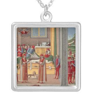 Medieval amputation scene necklace