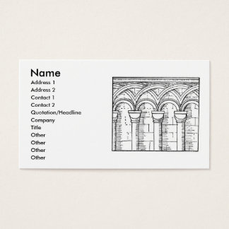 Medieval Architecture Business Card