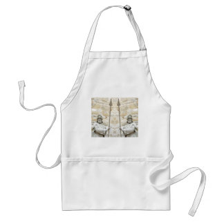 Medieval background with knight in armour standard apron