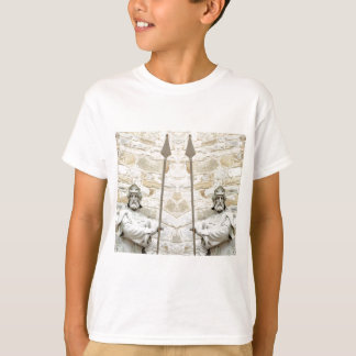 Medieval background with knight in armour T-Shirt