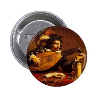 medieval-bard-4 6 cm round badge