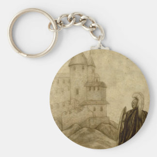 Medieval Basic Round Button Key Ring