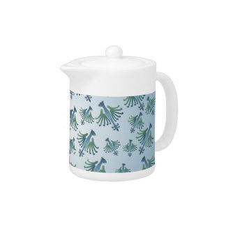 Medieval Bird Pattern Teapot