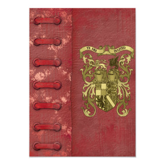 Medieval Book Cover Wedding Invitations