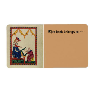 Medieval bookplate shipping label