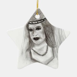 Medieval Bride Ceramic Star Decoration