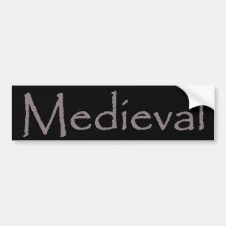 Medieval Bumper Sticker