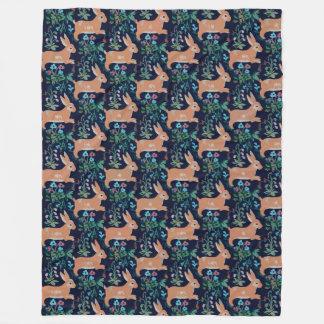 Medieval Bunny Fleece Blanket, Large