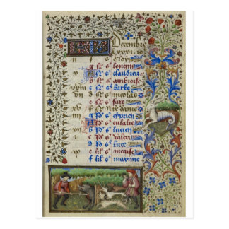 Medieval calendar: December Postcard