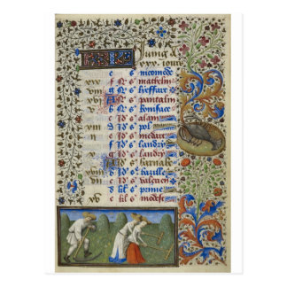 Medieval calendar: June Postcard
