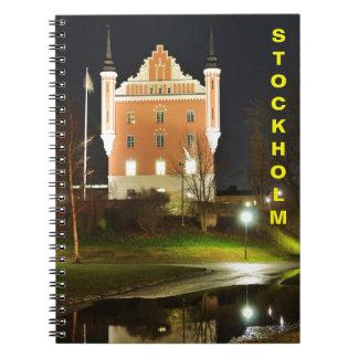 Medieval castle in Stockholm, Sweden Spiral Notebook