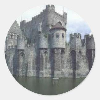Medieval Castle Round Sticker