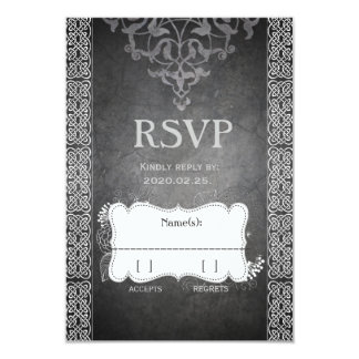 Medieval Celtic RSVP 9 Cm X 13 Cm Invitation Card