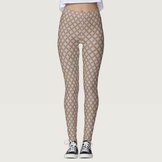 Medieval Chainmail Silver Pattern Leggings