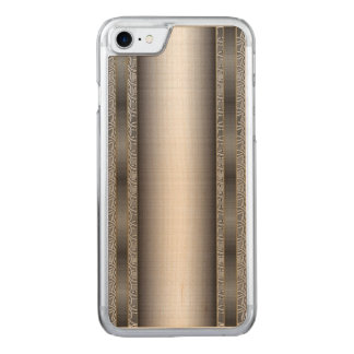 Medieval Chainmail with Brushed Steel plate. Carved iPhone 8/7 Case