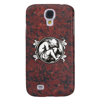 Medieval child (boy) against vintage marble galaxy s4 case