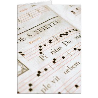 medieval chorus book card
